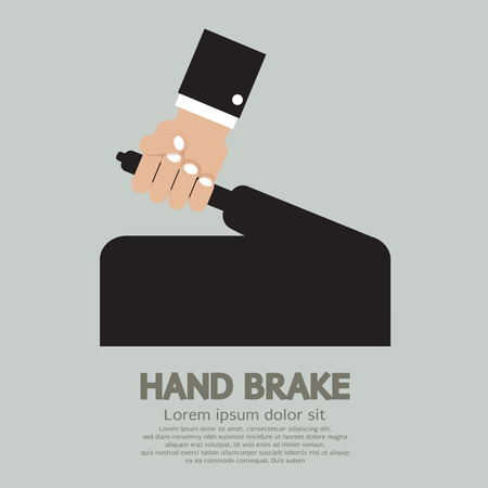 cars parking: Hand Brake Vector Illustration