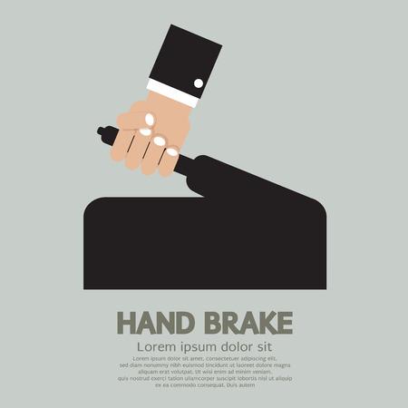 frenos: Ilustraci�n vectorial de freno de mano