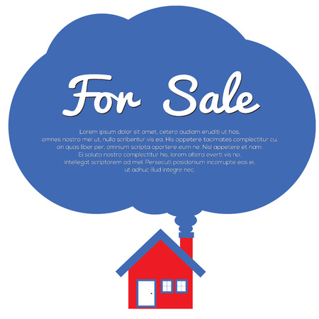 Home For Sale Vector Illustration Vector