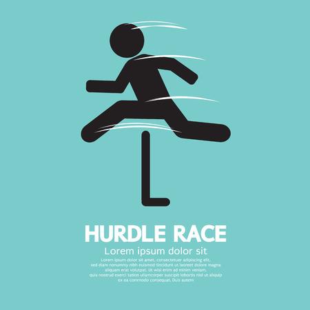 hurdling: Hurdle Race Vector Illustration