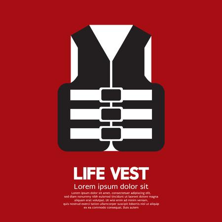 life jacket: Life Vest Vector Illustration