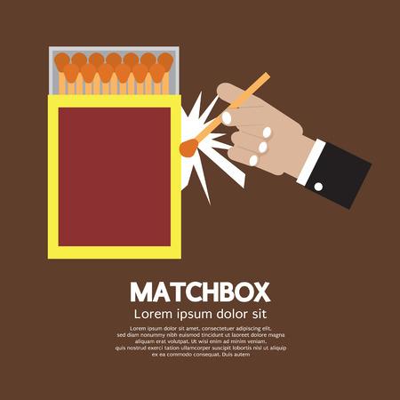 caja de cerillas: Ilustraci�n Matchbox envase del vector