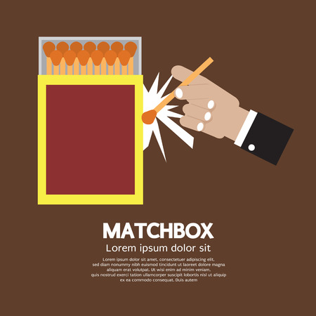 matchbox: Matchbox Container Vector Illustration Illustration