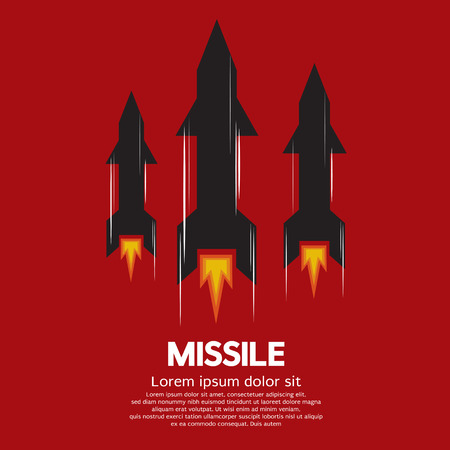 nuclear weapons: Missile Vector Illustration Illustration