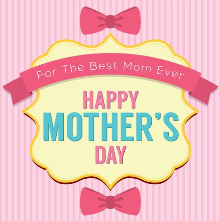 mummie: Happy Mother's Day Vector Illustratie