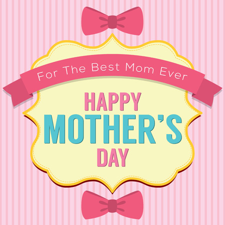 mother day: Happy Mother s Day Vector Illustration