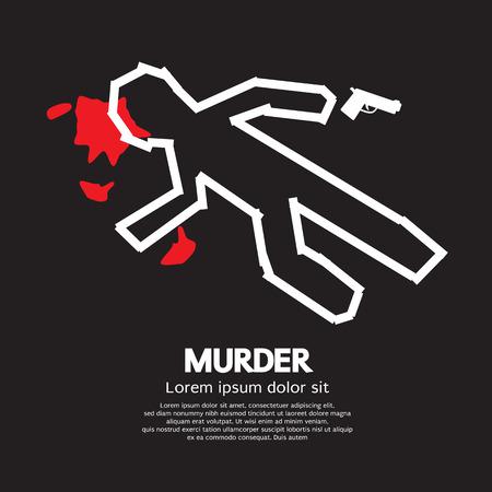 murder scene: Ilustraci�n vectorial Murder