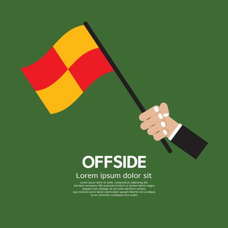 offside: Offside Football Vector Illustration Illustration