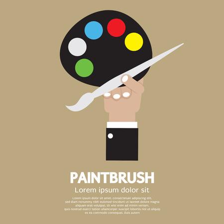 Artist Color Palette Vector Illustration Vector