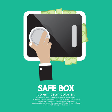 Safe Box Vector Illustration