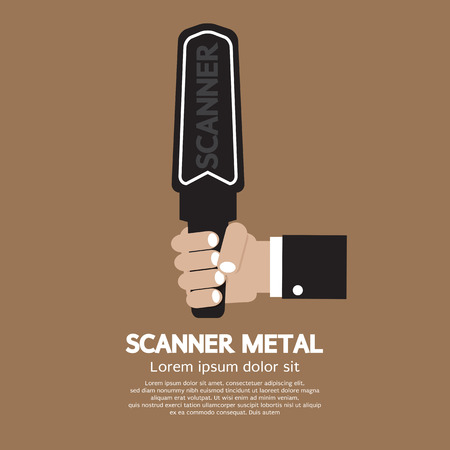 quarantine: Metal Scanner Vector Illustration