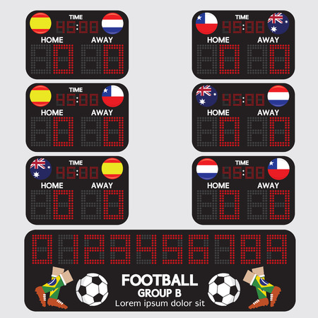 Scoreboard Football Tournament Vector Illustration Vector