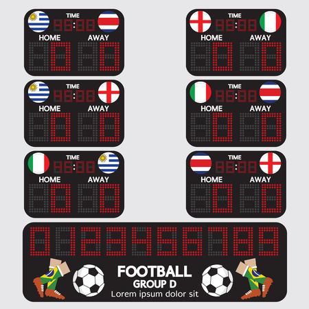d data: Scoreboard Football Tournament Vector Illustration Illustration
