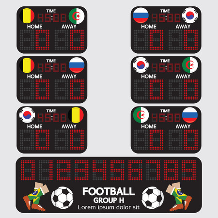 score board: Scoreboard Football Tournament Vector Illustration Illustration
