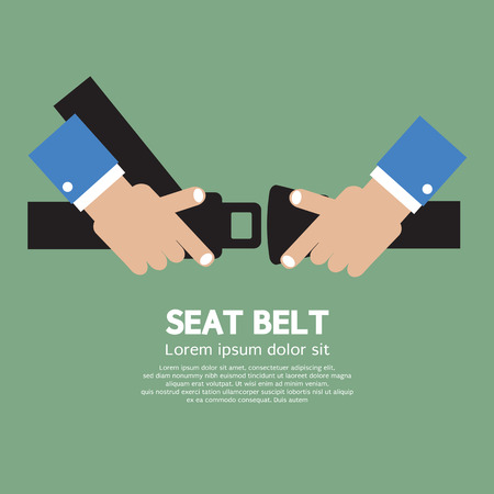 belt buckle: Seat Belt Vector Illustration