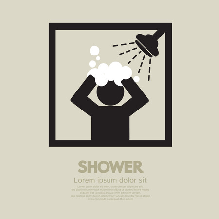 personal care: Shower Vector Illustration