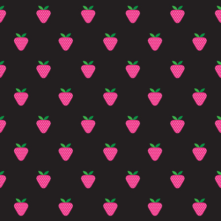Strawberry Pattern Vector Vector
