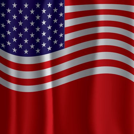 USA Flag Curtain Vector Illustration Vector