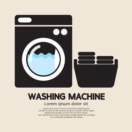 Waschmaschine Vector Illustration Standard-Bild - 27173958