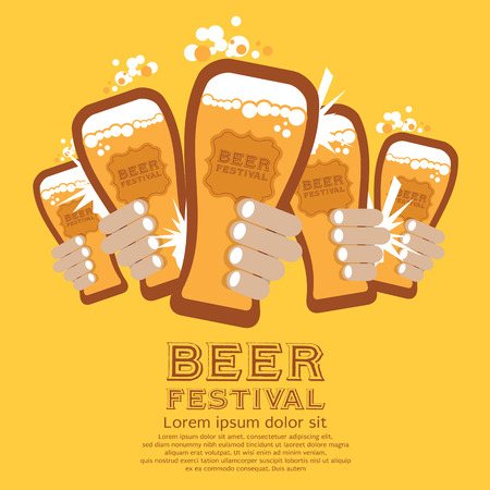 beer party: Beer Festival Vector Illustration