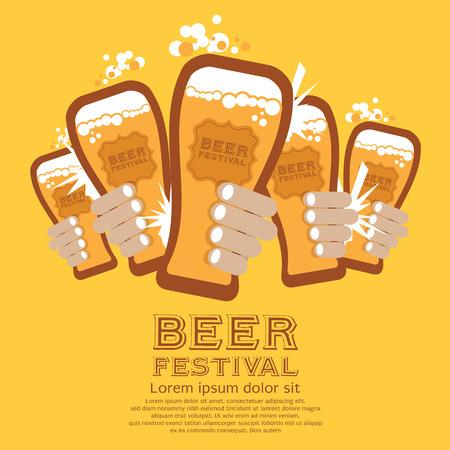Fête de la Bière Vector Illustration Banque d'images - 27489975