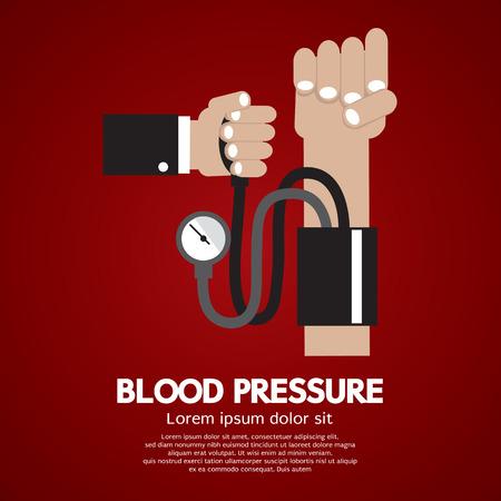hipertension: Ilustración vectorial de la presión arterial