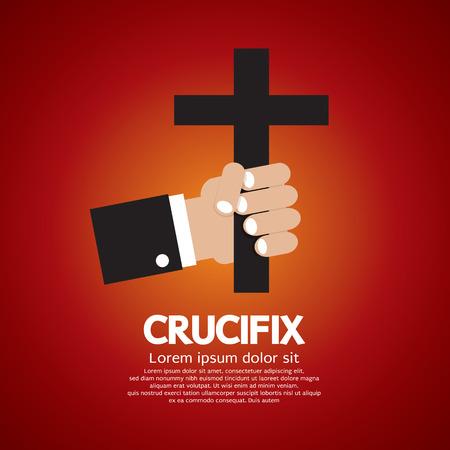 sacerdote: Ilustración vectorial Crucifijo