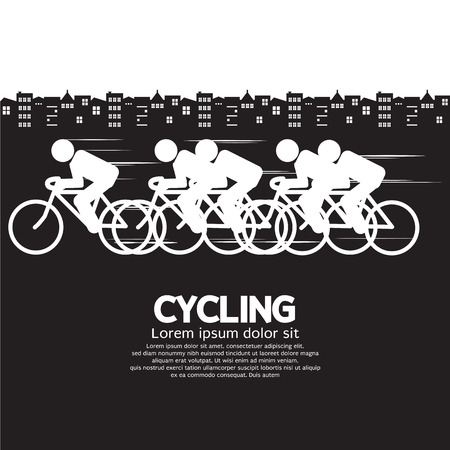 bicyclists: Cycling Vector Illustration