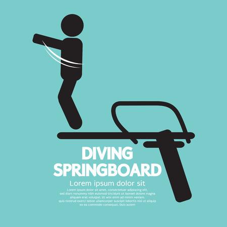 springplank: Duiken Springboard Vector Illustratie