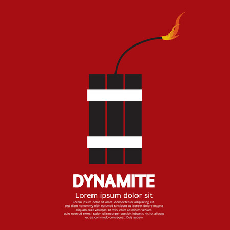 explosives: Dynamite Vector Illustration