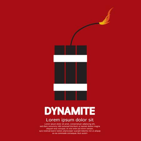 dinamita: Ilustración vectorial de la dinamita