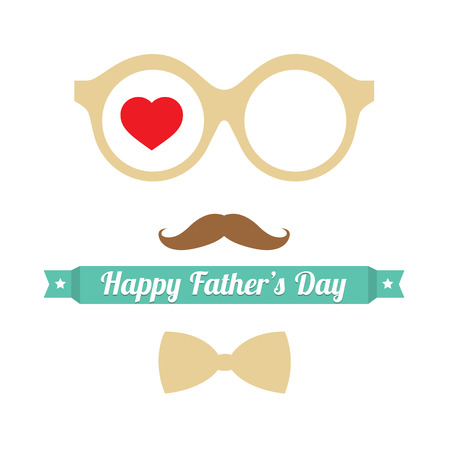 happy fathers day card: Happy Father s Day Vector Illustration