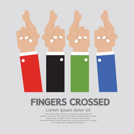 fingers crossed: Fingers Crossed Vector Illustration