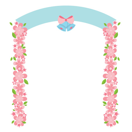 natural arch: Flowers Arch Vector Illustration Illustration