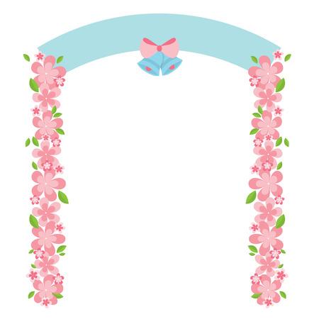 Flowers Arch Vector Illustration Иллюстрация