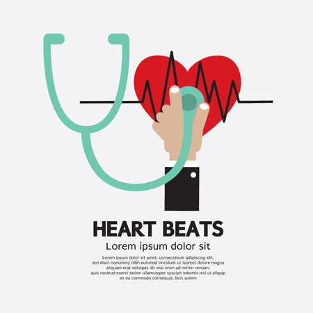 cardiac care: Heart Beats Vector Illustration Illustration