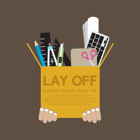 downsizing: Lay Off Vector Illustration
