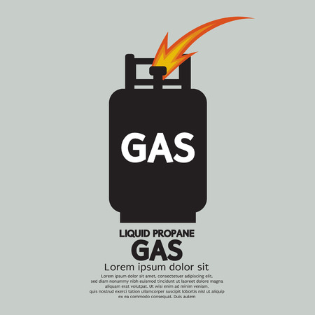 cilindro de gas: Ilustraci�n gas propano l�quido Vector