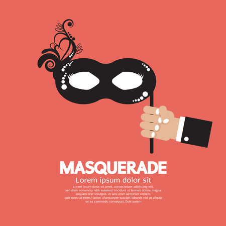 decoration decorative disguise: Masquerade Vector Illustration
