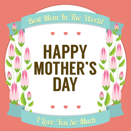 mother s day: Happy Mother s Day Vector Illustration