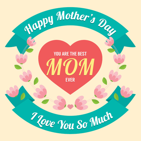 Happy Mother s Day Vector Illustration