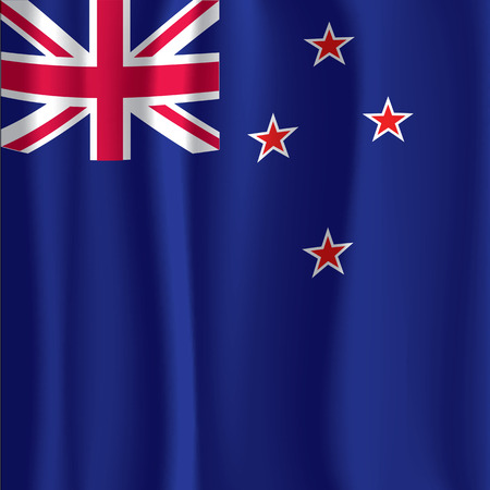 new zealand flag: Illustrazione Nuova Zelanda Flag Curtain Vector