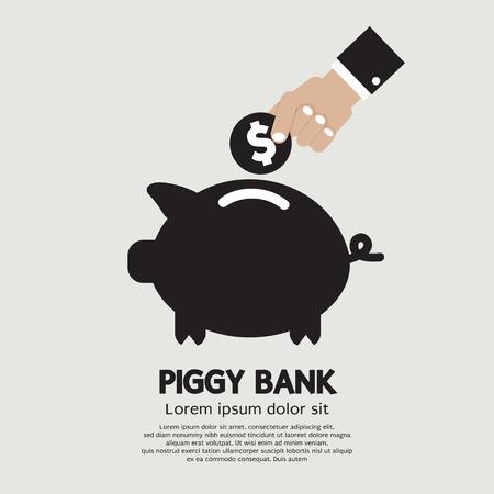 investor: Piggy Bank Vector Illustration
