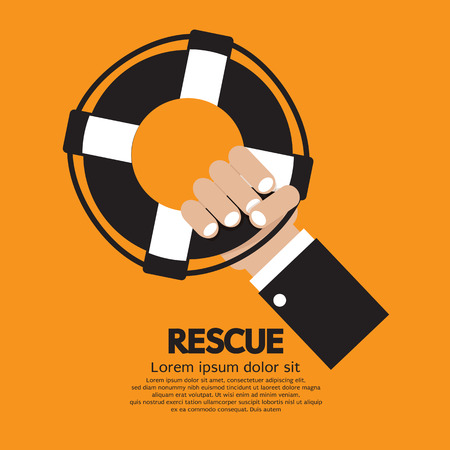 ring life: Rescue Vector Illustration