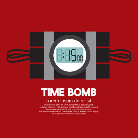 time bomb: Time Bomb Vector Illustration