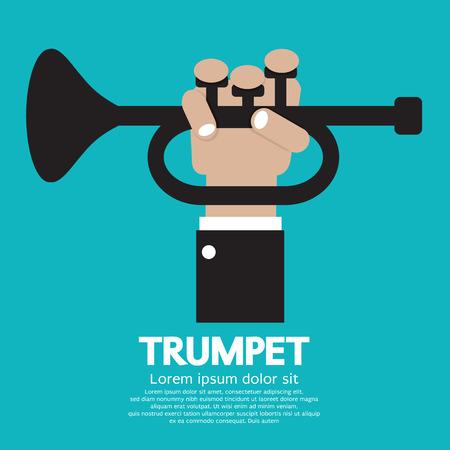 wind instrument: Trumpet Vector Illustration Illustration