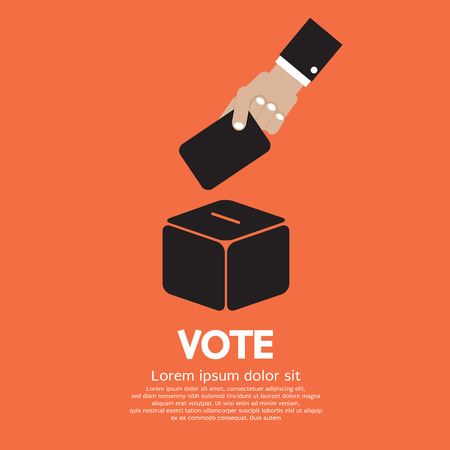 voting paper: Voting System Vector Illustration