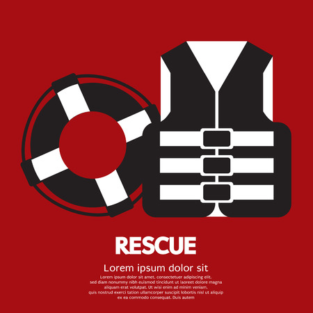 life jackets: Rescue Item Vector Illustration