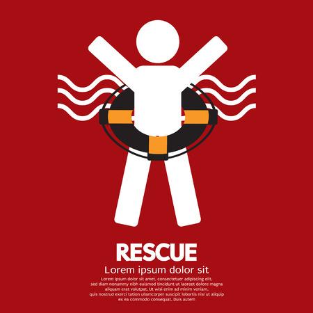 Rescue Vector Illustration Vector
