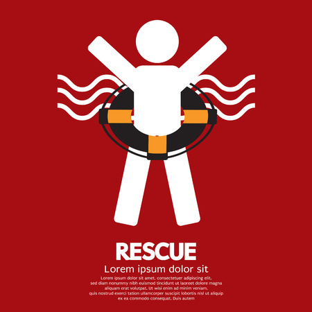 life support: Rescue Vector Illustration